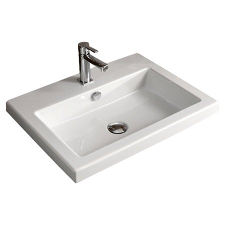 Cangas Ceramic Rectangular Drop In Bathroom Sink With Overflow Reviews Allmodern