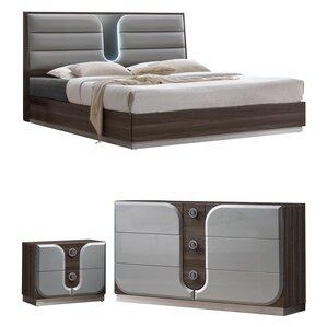 Anshul Modern Wood Platform Configurable Bedroom Set
