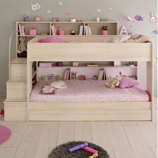 Ciara European Single Triple Sleeper Bunk Bed with Drawer by Viv   Rae