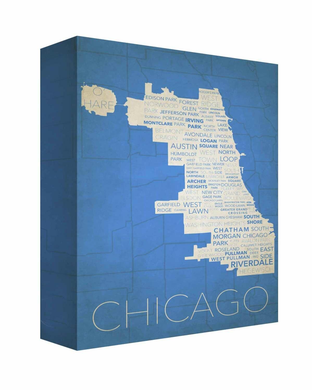 Latitude run chicago in words 6 textual art on canvas wayfair gumiabroncs Gallery