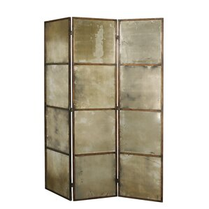 80 X 63 Avidan Mirrored 3 Panel Room Divider