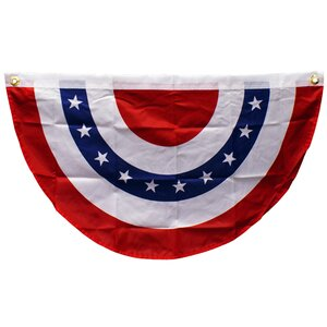 USA Bunting Pleated Flag