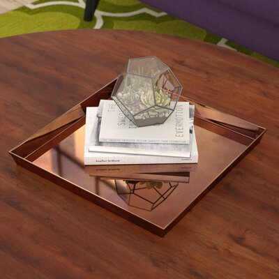 Ivy Bronx Square Copper Accent Tray Reviews Wayfair - Square copper coffee table