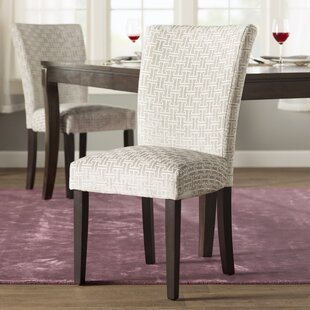 Sture Link Print Upholstered Dining Chair (Set of 2)