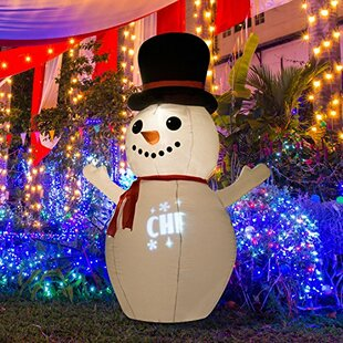 snowman christmas led lighted outdoor airblown inflatable - Wayfair Outdoor Christmas Decorations
