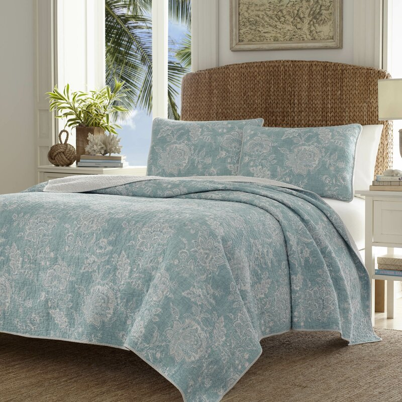 Tidewater Jacobean Quilt Set By Tommy Bahama Bedding