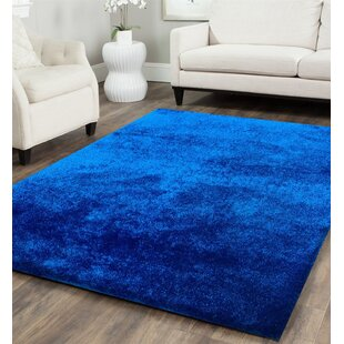 royal blue rug. Heineman Solid Shag Hand-Tufted Royal Blue Area Rug Wayfair