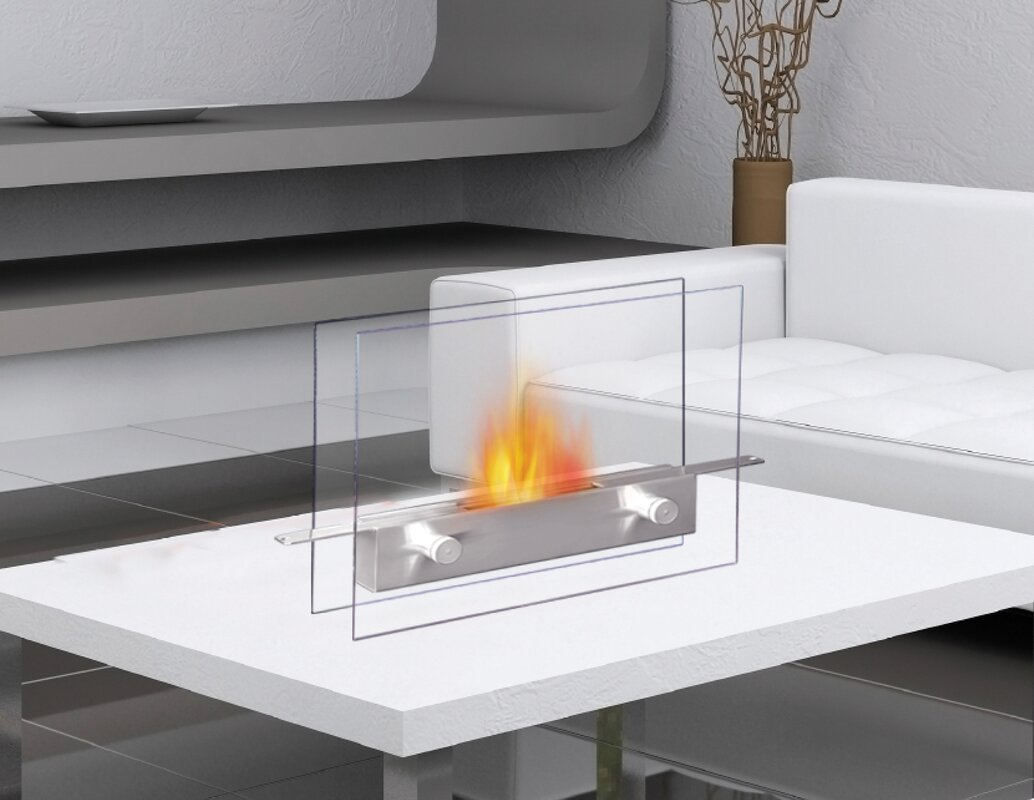 Coffee Table Fireplace anywhere fireplace metropolitan bio-ethanol tabletop fireplace