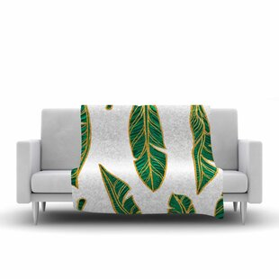 Banana Leaf Digital Fleece Throw