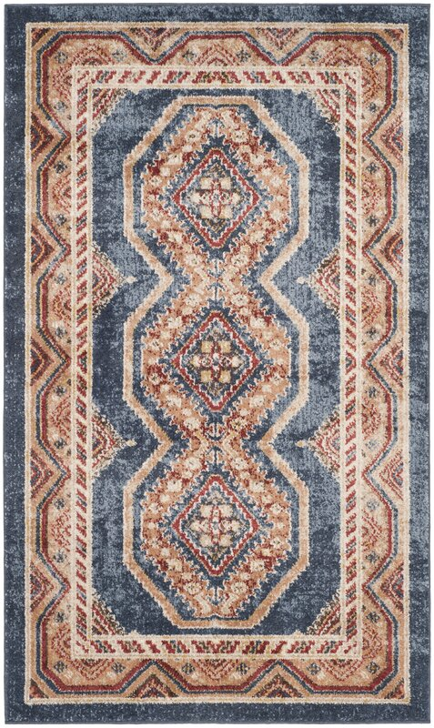 loon peak isanotski red/blue area rug & reviews | wayfair