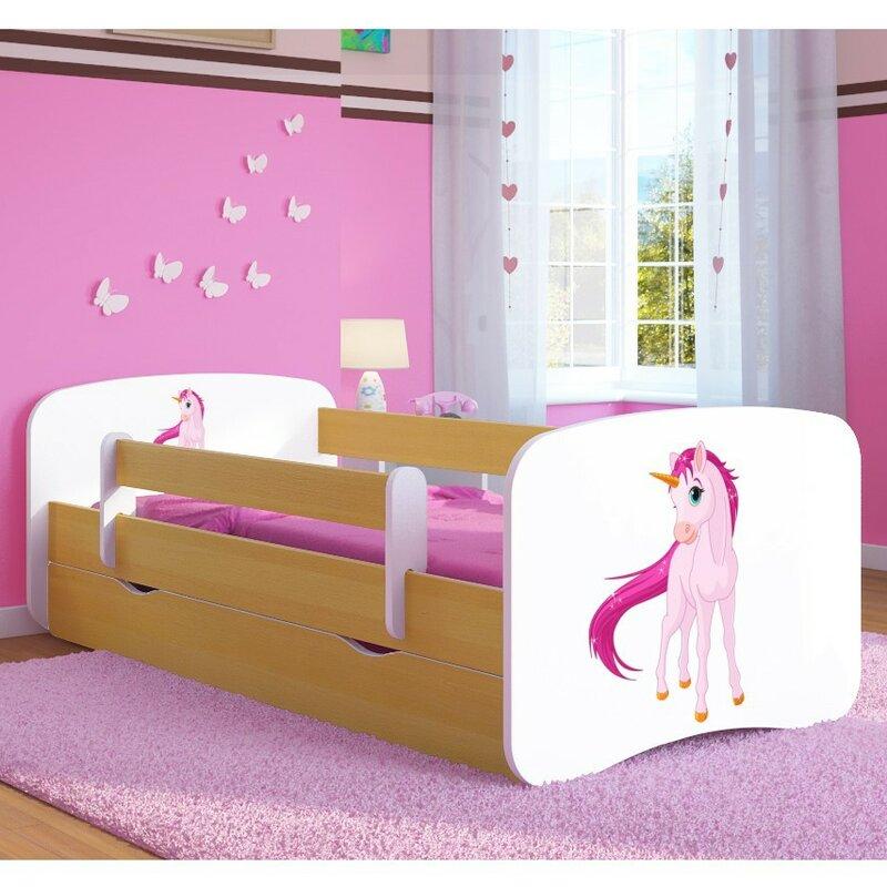 Kocot kids unicorn children 39 s bed with mattress and drawer - Wayfair childrens bedroom furniture ...