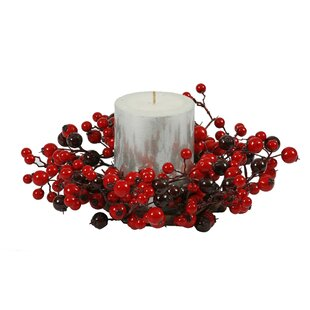 mixed berry candle ring by the holiday aisle - Decorative Christmas Candle Rings