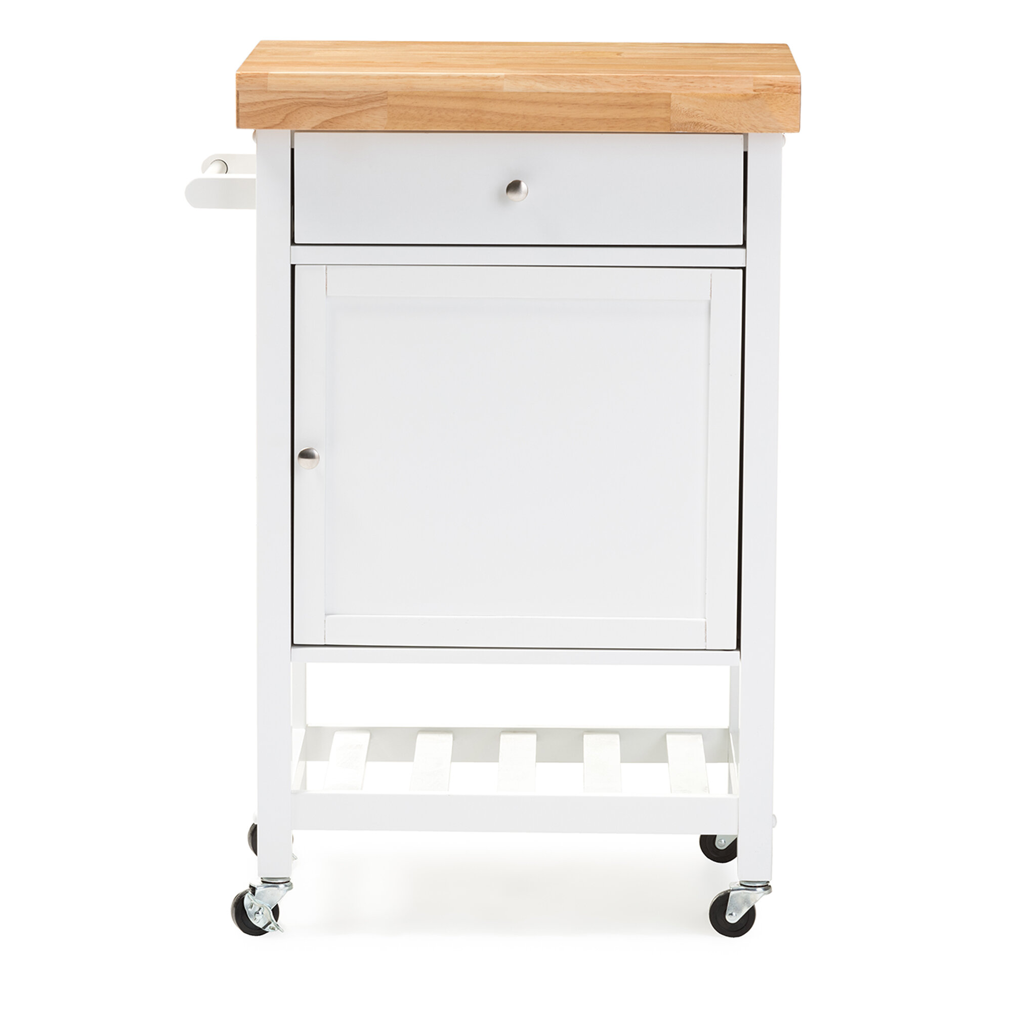 Lucrezia Kitchen Cart With Wood Top