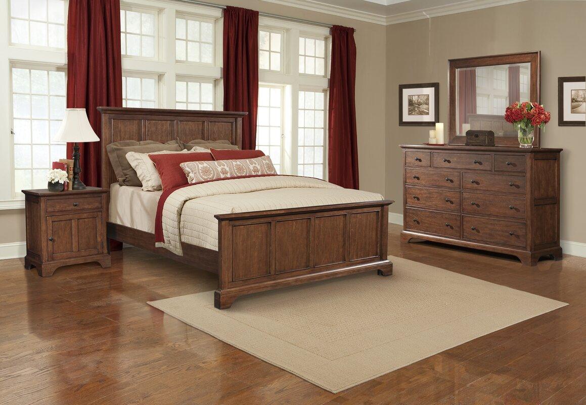 Cresent Furniture Retreat Cherry Queen Panel Configurable Bedroom ...