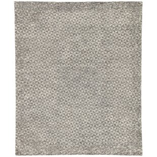 Haldeman Hand-Knotted Wool Raven/Bone White Area Rug By Ivy Bronx