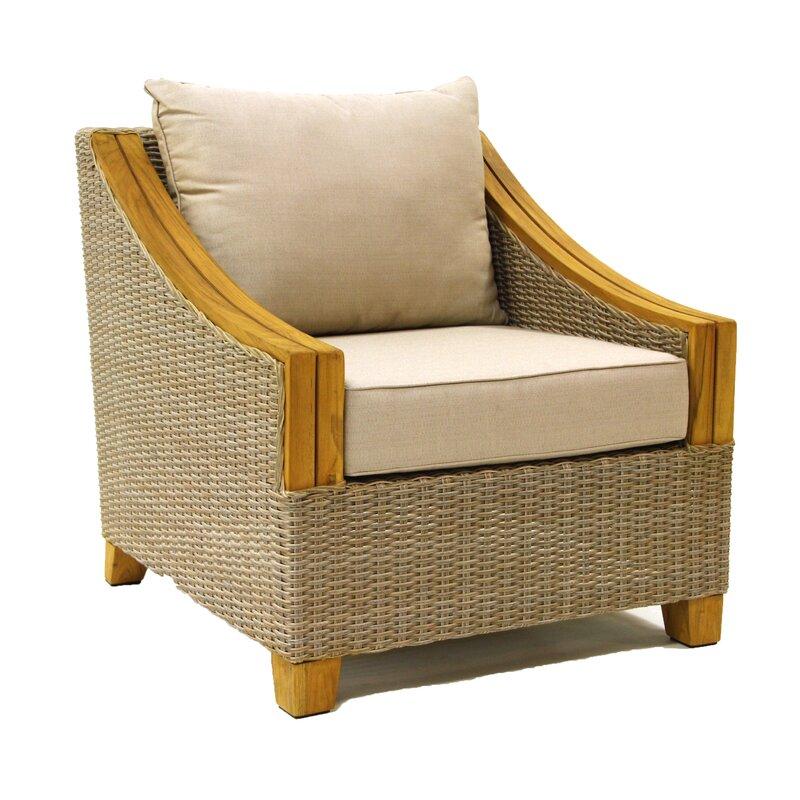 Asta Wicker U0026 Teak Arm Chair