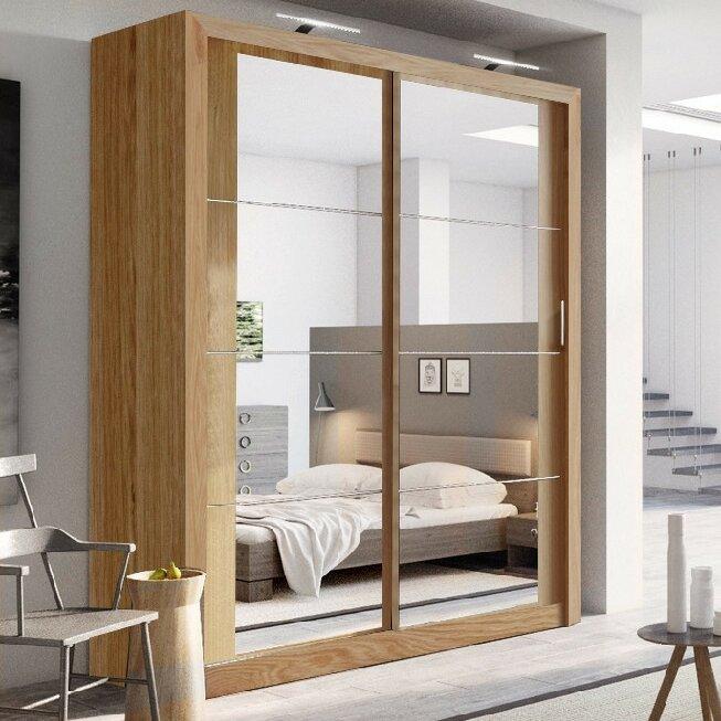 Brayden Studio Tengan 2 Door Sliding Wardrobe & Reviews