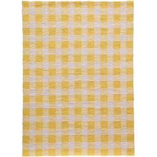 Violet Hand Woven Yellow/White Area Rug