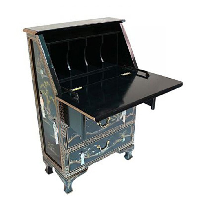 Grand international decor mother of pearl secretary desk for Grand international decor