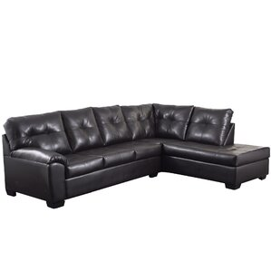 sc 1 st  Wayfair : leather brown sectional - Sectionals, Sofas & Couches