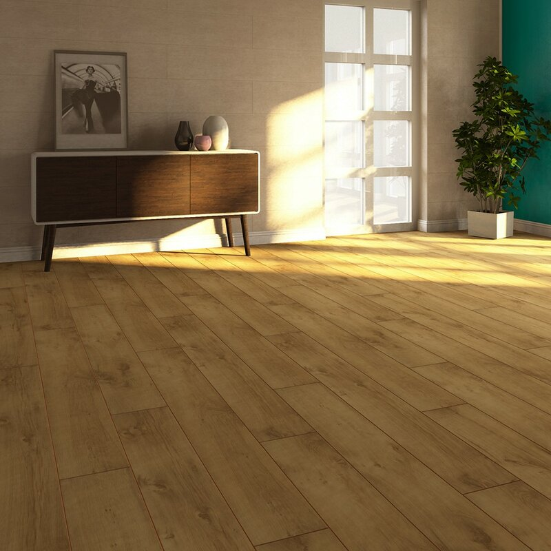 Elesgo Floor Usa V4 7 X 51 X 8mm Oak Laminate Flooring In Tan