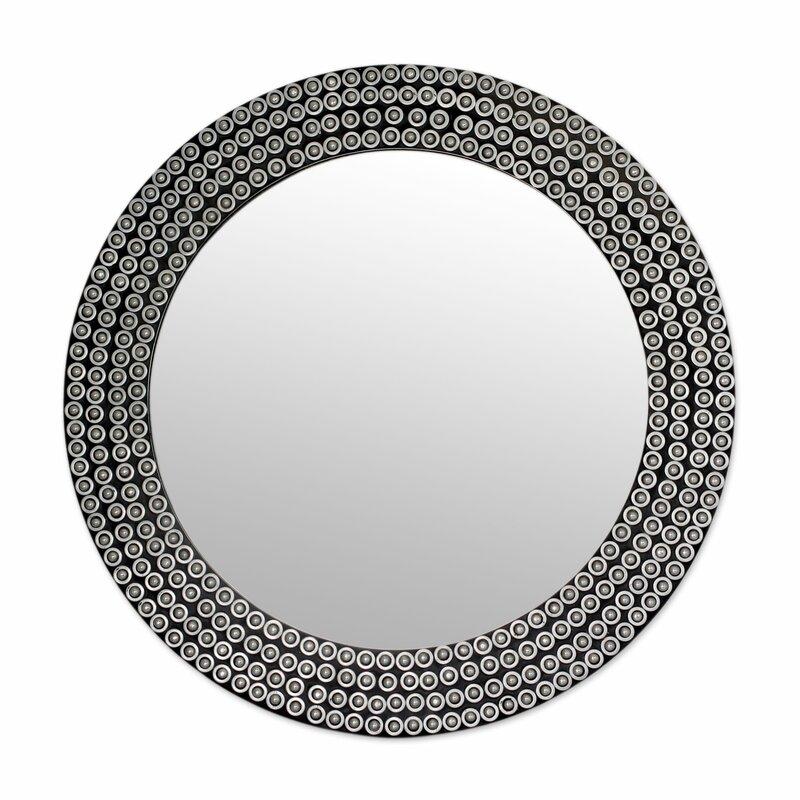 Industrial Wall Mirror novica metal mosaic industrial style wall mirror   wayfair