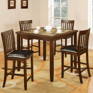 Mcmullin 5 Piece Counter Height Dining Se..
