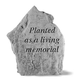 Sympathy Stones For The Garden Pet memorial garden stones wayfair planted as a living memorial garden stone workwithnaturefo