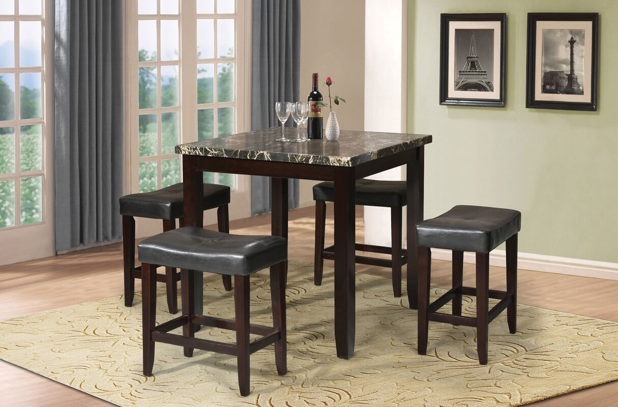 Dehaven 5 Piece Counter Height Dining Set & Reviews