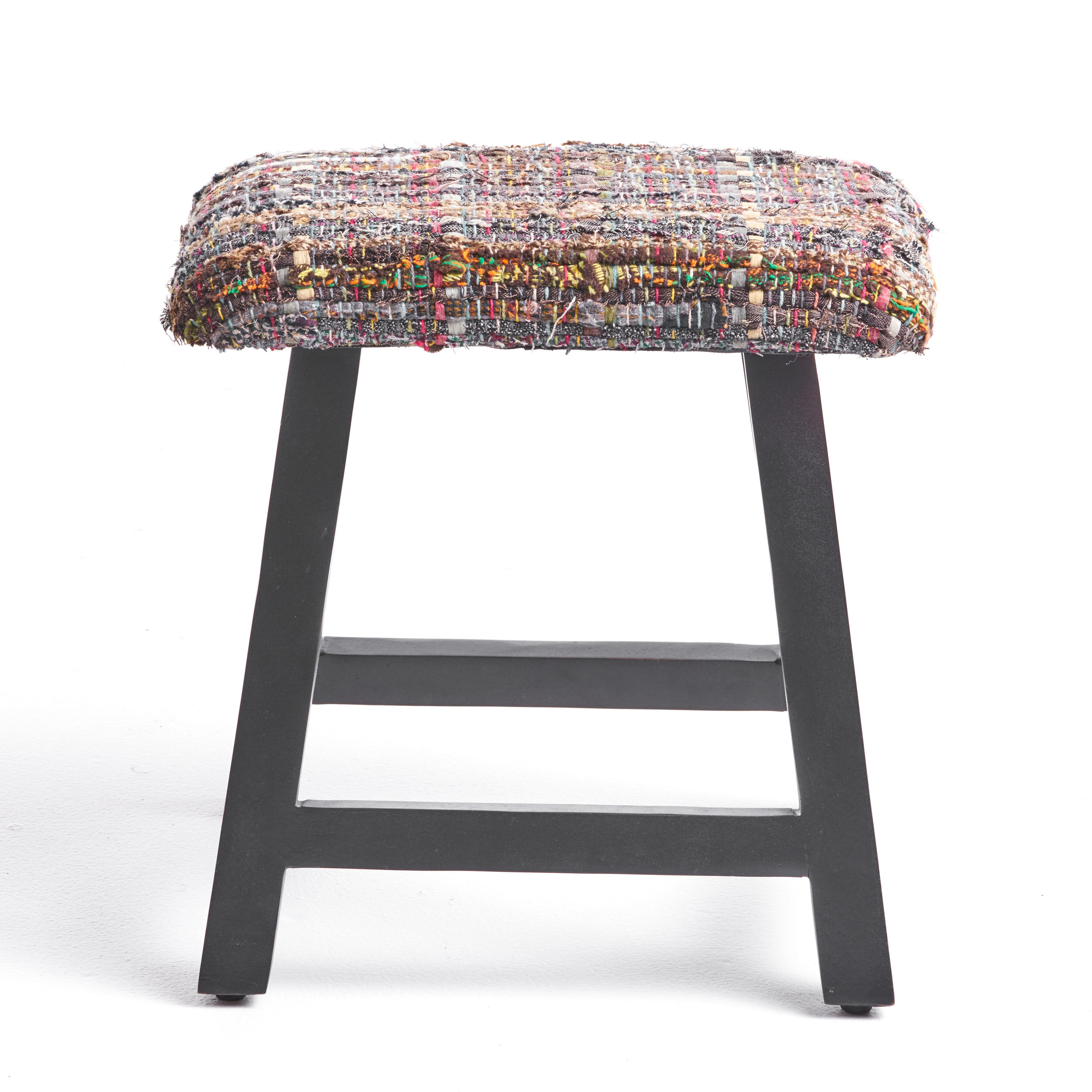 Awesome Mahfouz Modern Fabric And Wood Vanity Bench Machost Co Dining Chair Design Ideas Machostcouk