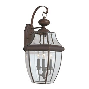 Redfern 3-Light Outdoor Wall Lantern