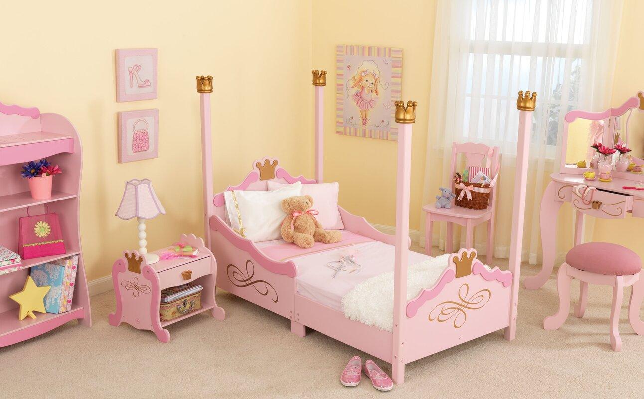 KidKraft Princess Toddler Four Poster Bed & Reviews | Wayfair