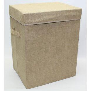 Hessian Folding Laundry Storage Bin