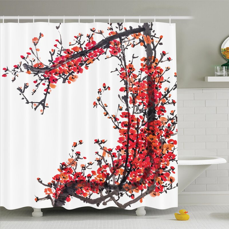 Old Fashioned Japanese Shower Curtains Adornment - Luxurious Bathtub ...