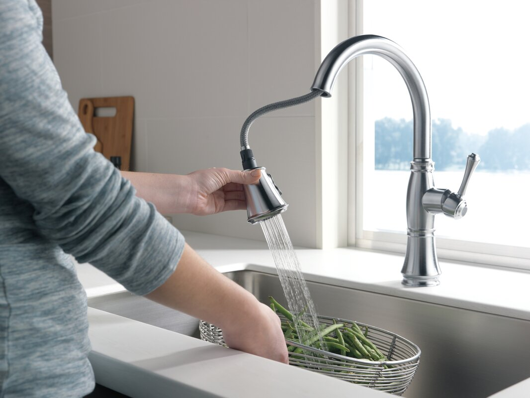 delta cassidy single handle pull down kitchen faucet with spray default name