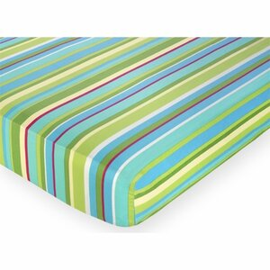 Layla Striped Fitted Crib Sheet