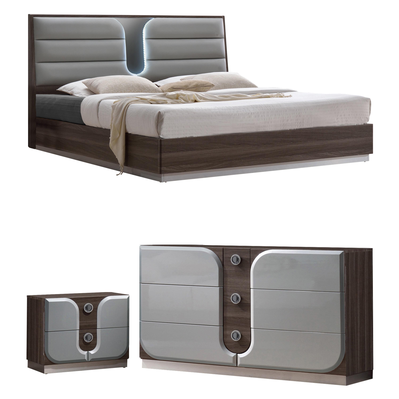 anshul modern wood platform configurable bedroom set - Modern Furniture Bedroom Sets
