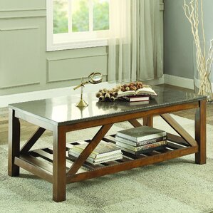 Homelegance Ashby Coffee Table, Bluestone Marble