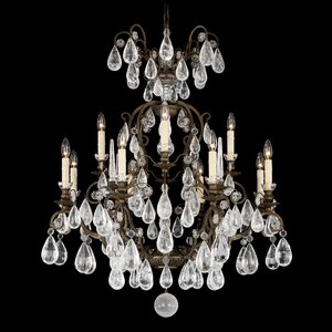 Versailles Rock Crystal 12-Light Candle-Style Chandelier