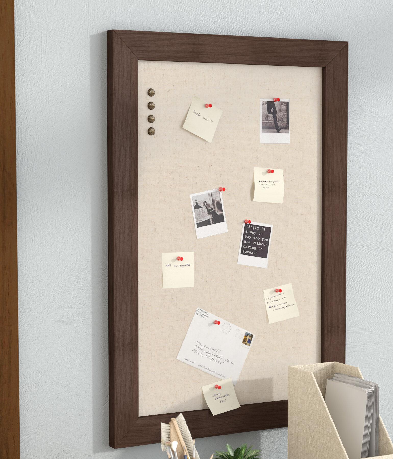 Union Rustic Framed Wall Mounted Bulletin Board & Reviews | Wayfair