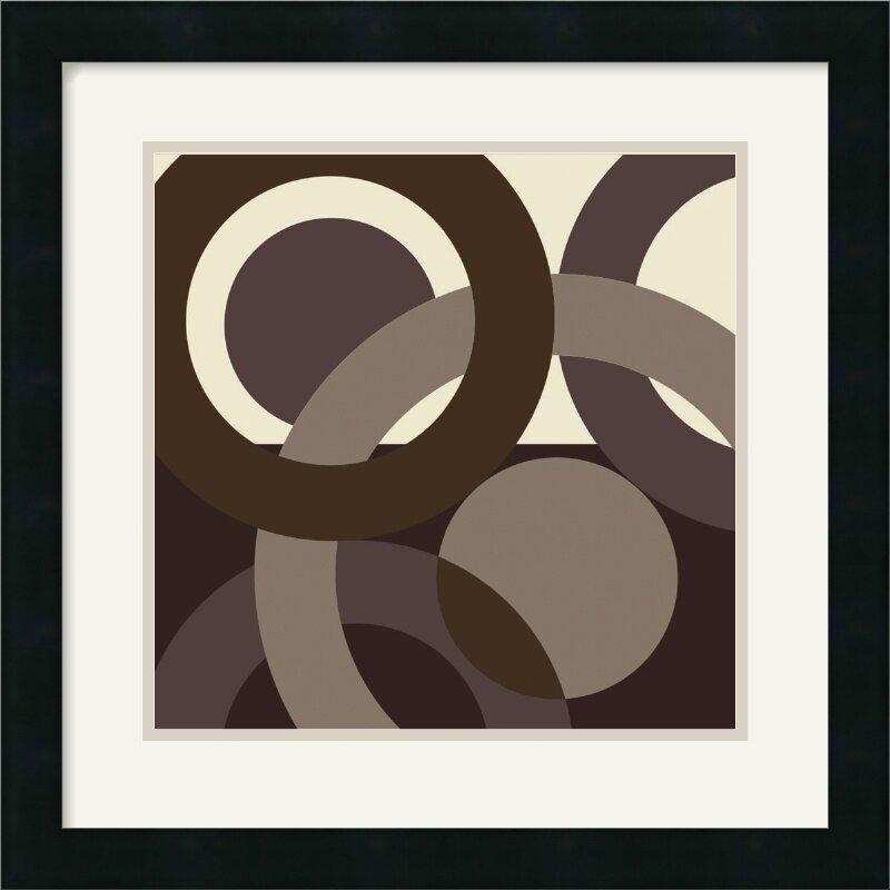 'Circa' by Denise Duplock Framed Graphic Art