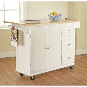 Hardiman Kitchen Island with Wood Top
