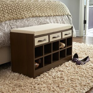 Amazing Wood Storage Bench With Cubbies