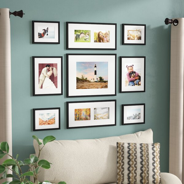 Three Posts Boulware 9 Piece Wood Picture Frame Set & Reviews | Wayfair