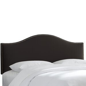 doleman nail button upholstered panel headboard