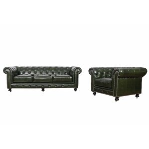 Kilie Virginia Leather 2 Piece Leather Living Room Set by 17 Stories