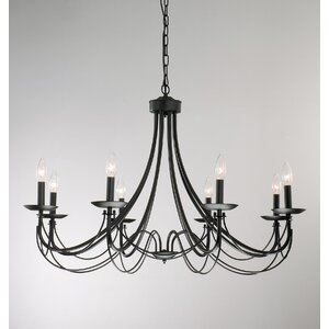 Iron 8-Light Candle-Style Chandelier