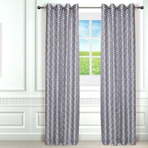 antigone geometric room darkening curtain panels set of 2 - Room Darkening Curtains