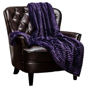Jinny Super Soft Ultra Plush Solid Stripe Textured Sofa Couch Bed Throw