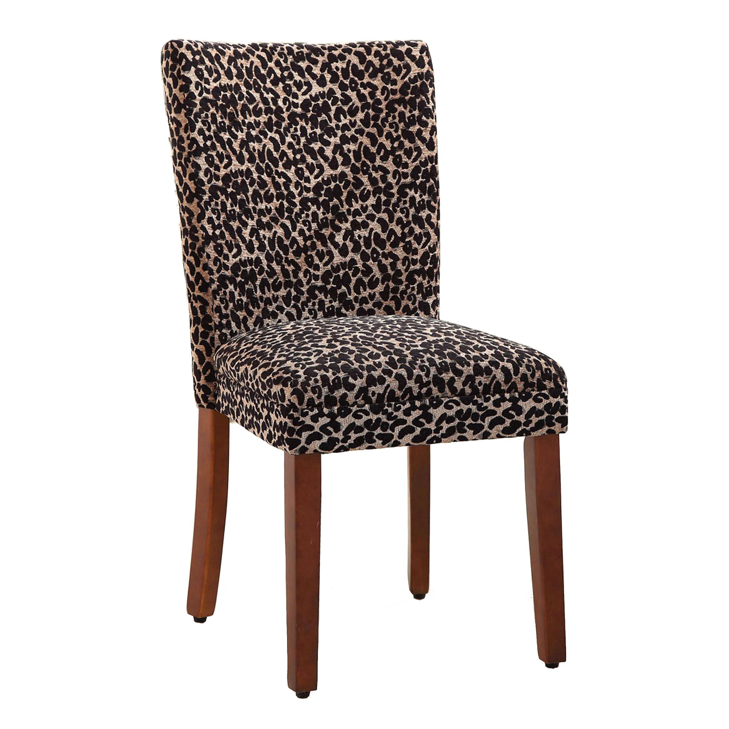 HomePop Leopard Parsons Chair U0026 Reviews | Wayfair